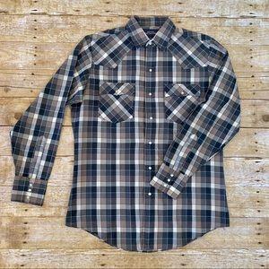 Men's Vintage plaid Western  Cowboy shirt